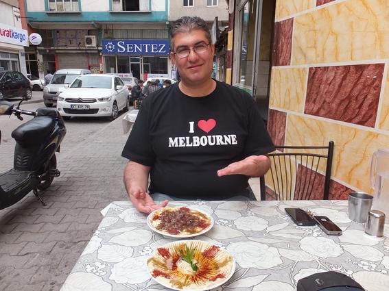 My wonderful host at a Syrian run hummus/falafel restaurant in Gaziantep
