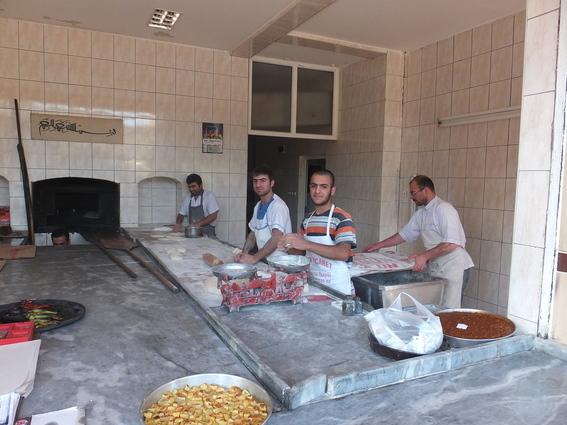 Neighborhood bakery in Sanliurfa