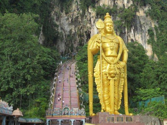 Batu Caves outside of Kuala Lumpur