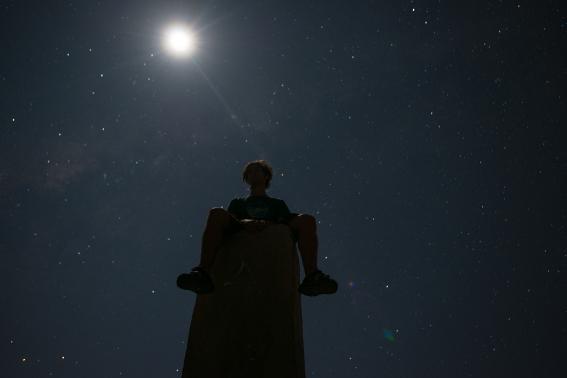 Me at Mt. Kelimutu at night