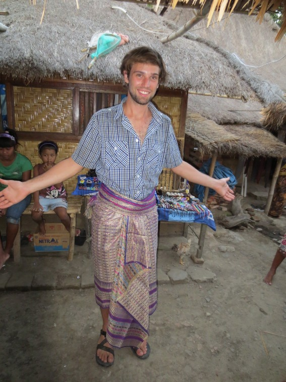 Me dressed up as a traditional villager