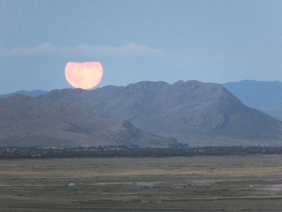 Huge, orange moon