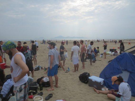 Busan Bids at Dadaepo Beach