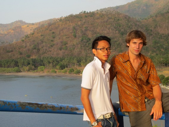 Christian and I at an overlook
