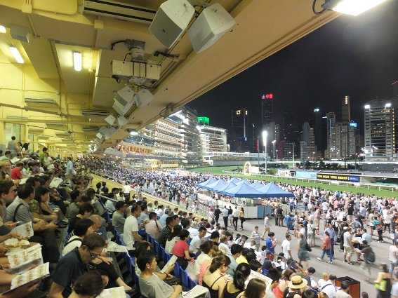Crowds at the Happy Valley Racecourse