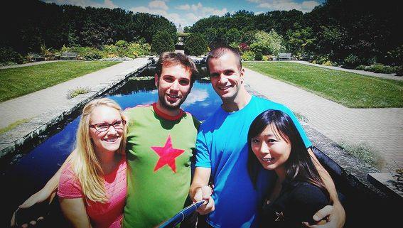 Danielle, Me, Rob and Yaya at Olbrich Gardens
