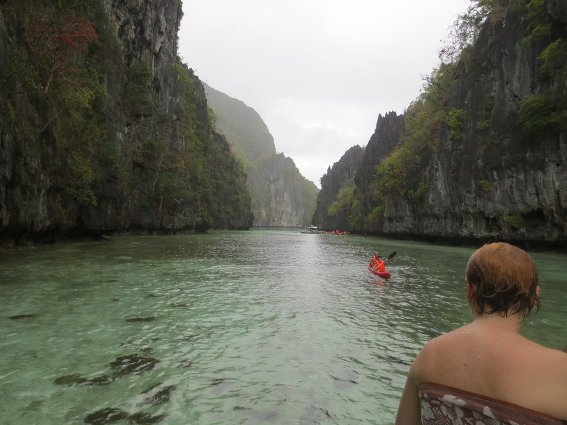Entrance to a beautiful lagoon in El Nido, Philippines