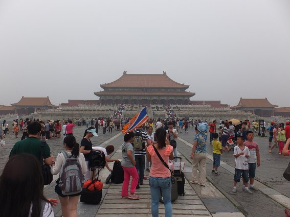 Crowds at the Forbidden City in Beijing