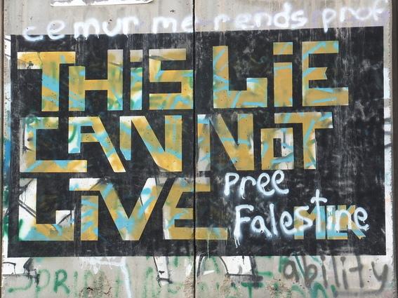 Graffiti on the separation wall in Bethelhem