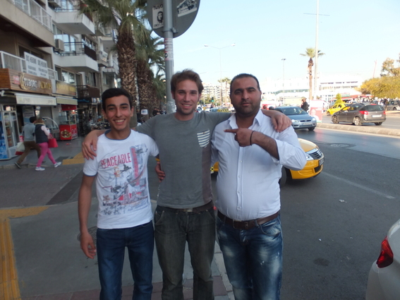 Two of the guys I hitchhiked back from Ephesus with