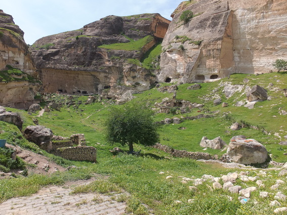 Caves in the bluffs of Hasankeyf