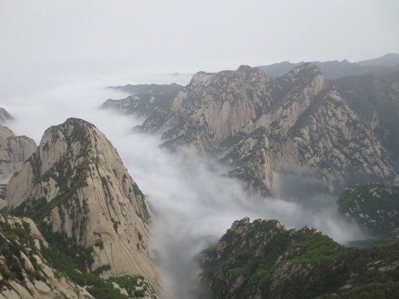 Huashan from the east peak