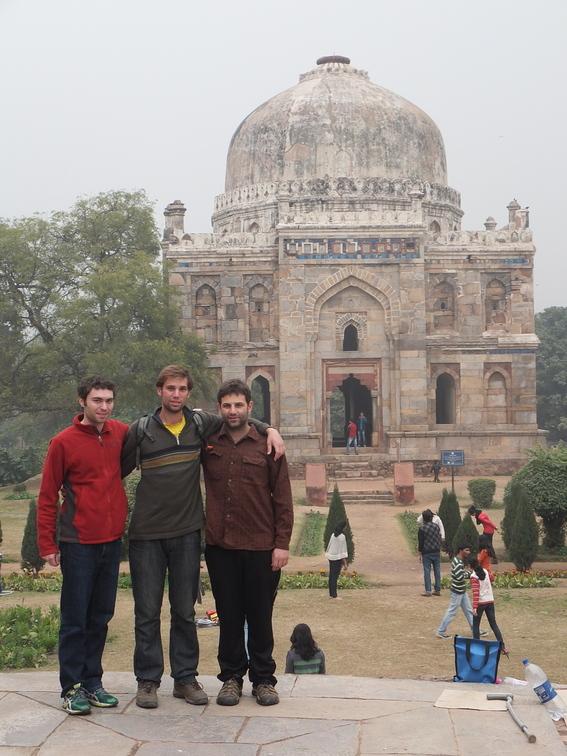 Aaron, Me, and Ace at Lodi Garden in Delhi