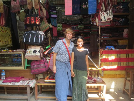 Me and the shopkeeper that sold me my handbag