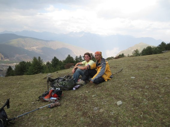 Me and the guide in Haba pasture