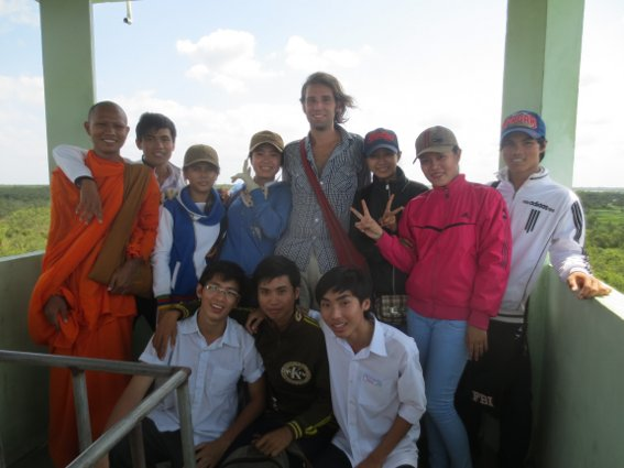 Me and the crew at U Minh Thuong national park