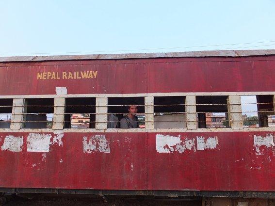 Me aboard the Nepal Railway