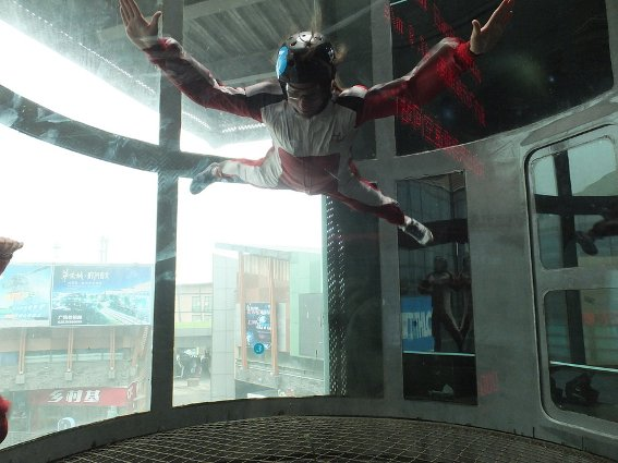 Me skydiving in the wind tunnel