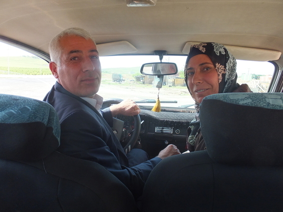 Nice old Kurdish couple that gave me a lift from Kizlar to Bozova