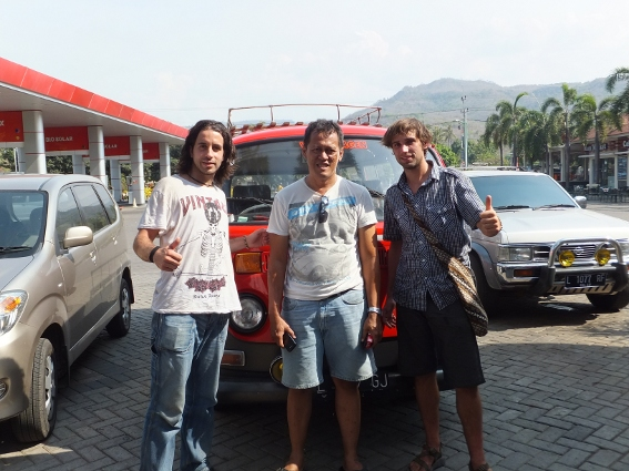 Us with the guy that took us to Bali