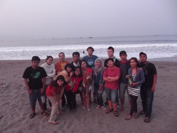 All of us as Swarna beach