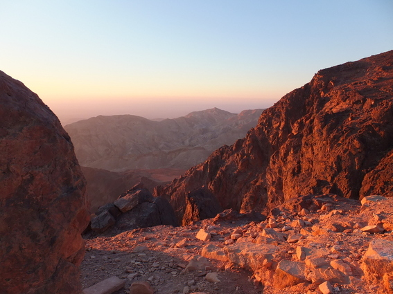 Sunset over Wadi Musa, from outside the cave