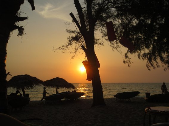 Sunset at Otres
