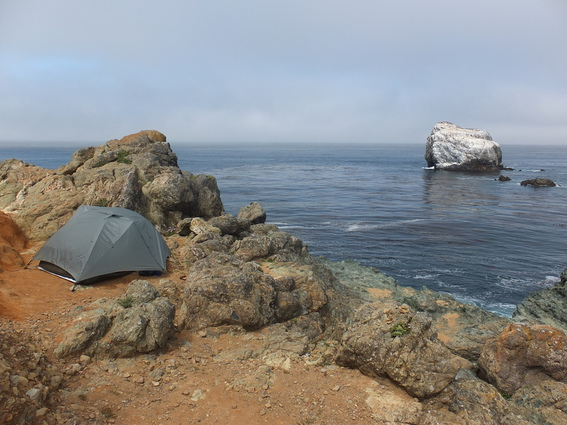 Sweet campsite on the Pacific Coast Highway