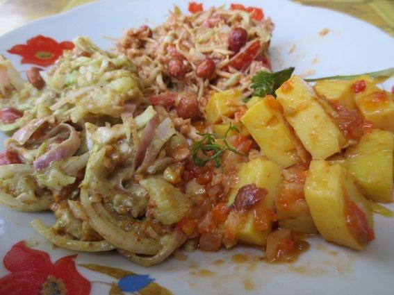 Three Burmese dishes